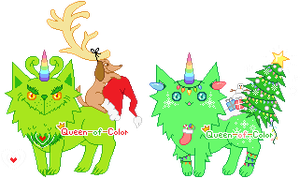 a: Grinch and Christmas Mutants by Queen-of-Color