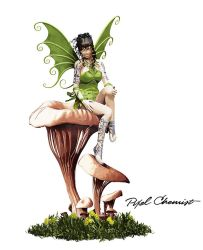 Forest Fairy On Mystical Mushrooms by pixelchemist