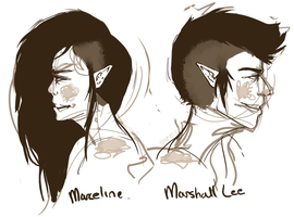 Marceline and Marshall Lee by Diprenzio