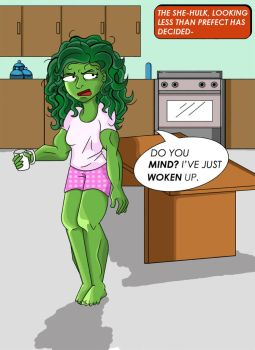 She-Hulk and the rude Fourth Wall by KirstyEmma