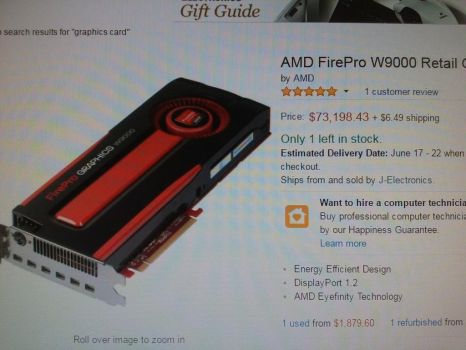 Graphics card insane price by awesome6999