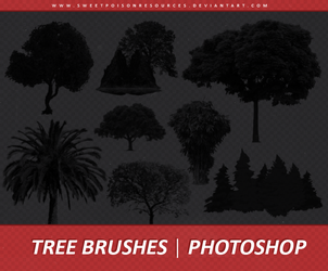 Tree Brushes | Photoshop by sweetpoisonresources