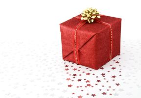Christmas Present Gift Box Red by SweetSoulSister