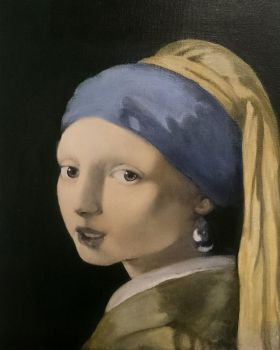 WIP Girl with a pearl earring third glaze by BlazeDev86