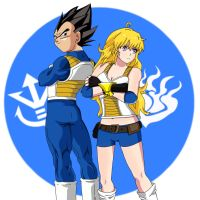 Overcoming one's limits! Yang and Vegeta by P-BOY46