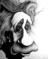 Einstein-ball point pen by JoshUsmani