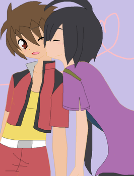 Dan x Shun Kissing you by minokizwei