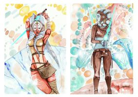Aayla Secura and Shaak Ti #3 by Minorou1988
