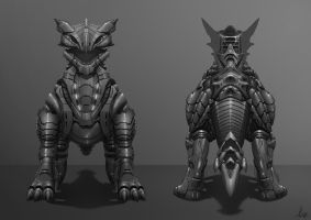 Dragon Armour Front and Rear View by AaronGriffinArt