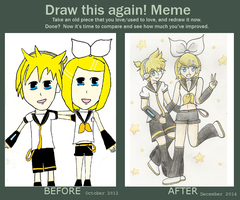 Improvement Meme - Rin and Len by Riveree