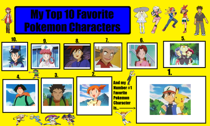 My Top 10 Favorite Pokemon Characters by ameth18