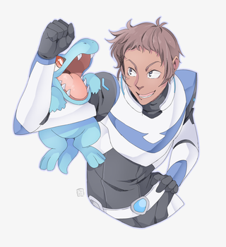 Pokemon Paladin Trainers: Lance and Totodile by PRllNCE