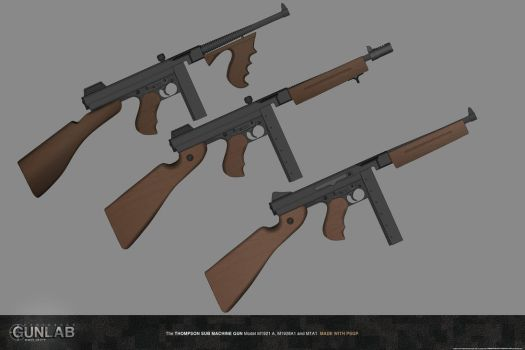 PSGP: Thompson Sub Machine Gun by PSGunlabProject