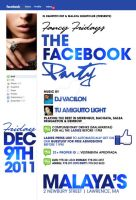 the facebook party flyer by DeityDesignz