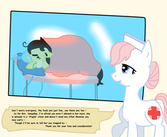 (EDIT IN DESCRIPTION) At the Ponyville Hospital by AskPonyRomano