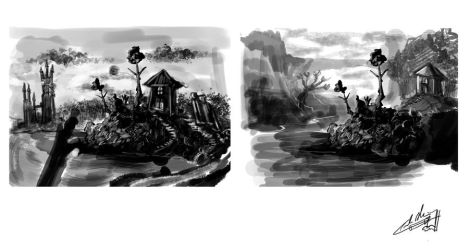 haunted treehouse roughs 2 by PoetryMan1
