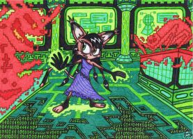 Sonic SatAM - Nicole Lynx The Virus Killer by AceOfSpeed94
