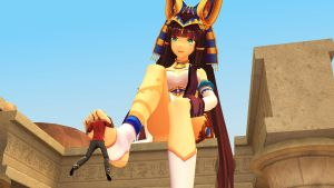 Godess Ramesses' foot toy by shrunkenlover