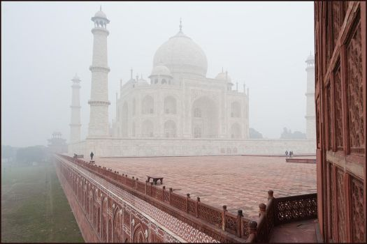 Agra and Taj in January by IgorLaptev