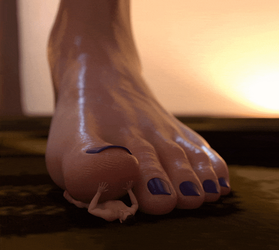 Pushing Her Toe - Mini Animation by Flagg3D