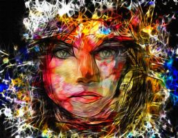 The angry woman by DigitalHyperGFX