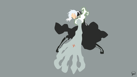 Allen Walker (D.Gray-man) Minimalist Wallpaper by greenmapple17