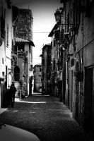 nepi street 3 Black and White by Masojiro
