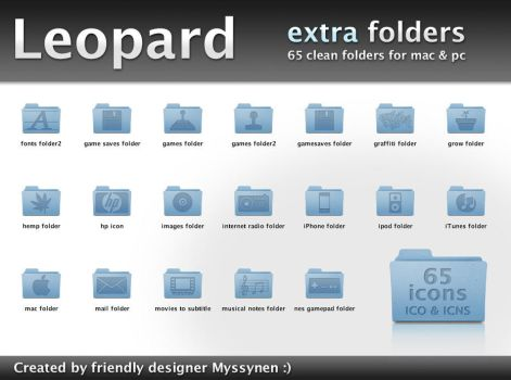 Leopard extra folder icons by Myssynen