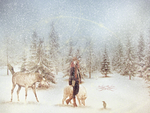 walk on the bright side of life even in snowflurry by Sabina-Elisabeth