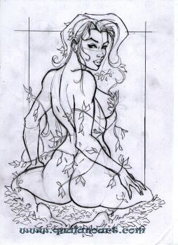 yasjo 38 14 poison ivy preliminary sketch by qualano - Hentai Coloring Book