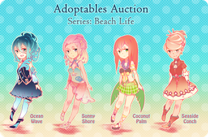 Adoptables Auction: Beach Life [CLOSED] by onedayfour