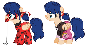 Ladybug/Marinette Ponified (pony version) by GihhBloonde