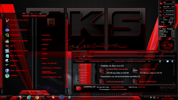 HKS Evo Red DESKTOP by lahercoll