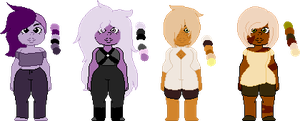 .:Amethyst and Jasper OTA[2/4 Open]:. by ImperfectImposter