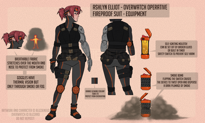 Ashlyn's Gear - OW OC by BlizzieNeko