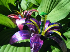 Recycled Pop Can Lily Retake by Christine-Eige