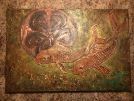 Jared - Copper Koi Painting 2015 by ScribbleFox