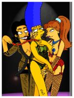 The Simpsons - Marge's Stage Dance Class by kalahee