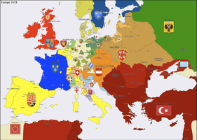 Europe 1618 by Hillfighter