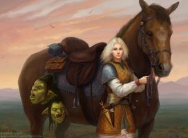 Orc Hunter by KateMaxpaint