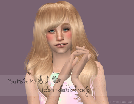 'You Make Me Blush,' Blush set by TacozMonkey