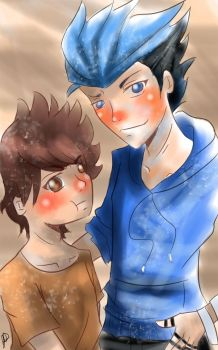 Mordecai and Rigby by AoiGetsueiAwai