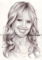 Jessica Alba. by Zindy