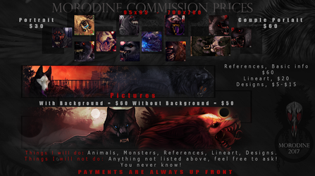 Commission Sheet by Morodine