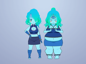 Xue Xue and Flo (Bios and Stats) by PizzaBurgers