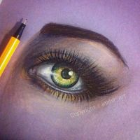 Eye Drawing by atahirART