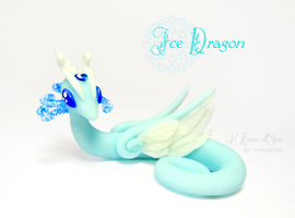 Ice dragon by rosepeonie