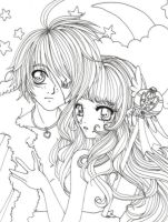 ::Lineart:: Monkeyboy and Clef by shiorimaster