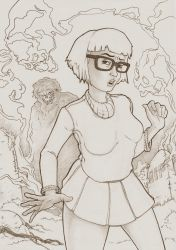 Velma Dinkley Pencil version by Eacone01
