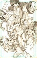 Rise of the Guardians sketch by WiL-Woods
